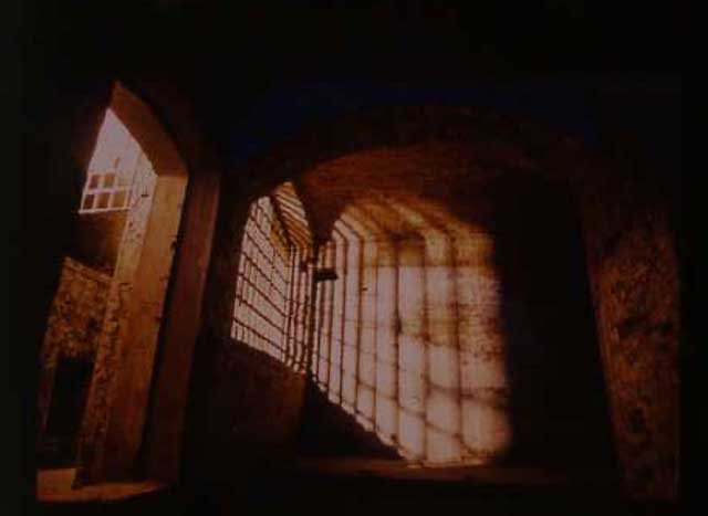 One of the cells at Clerkenwell's House of Detention.