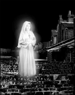 The ghostly nun is just one of the spectres encountered on our walk of London's haunted Theatreland.