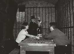 Richard Jones holding a seance at the House of Detention.