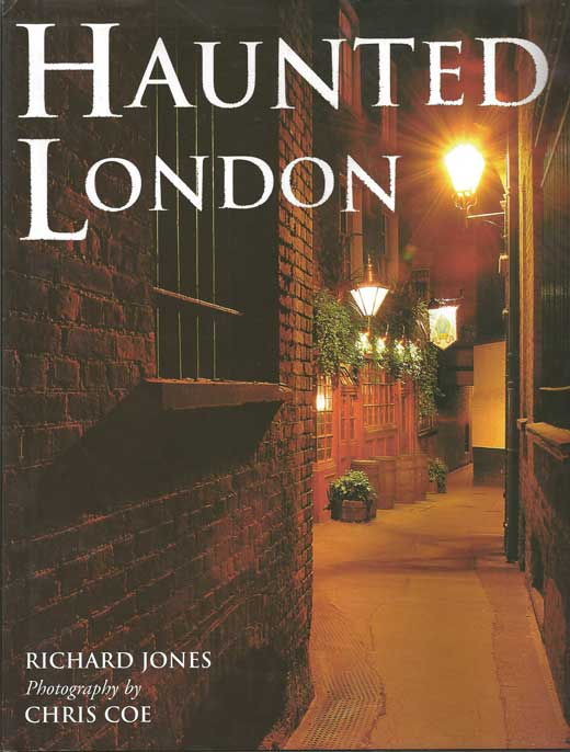 The front cover of Richard's book Haunted London.