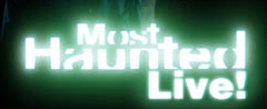 The logo for Most Haunted Live.