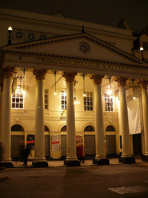 The Theatre Royal Haymarket is the last theatre we visit on the ghost walk.